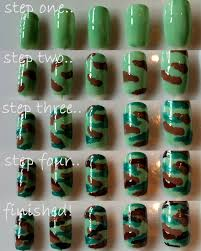 diy camouflage nail art camouflage nails camo nail art and camo