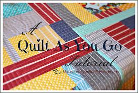 maureen cracknell handmade a quilt as you go tutorial
