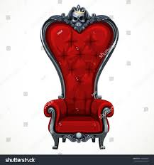 Armchair Upholstered Armchair Upholstered Red Highbacked Baroque Isolated Stock Vector