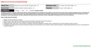 Declaration In Resume Sample Statistics Officer Cover Letter U0026 Resume