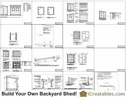 8x10 modern shed plans end door