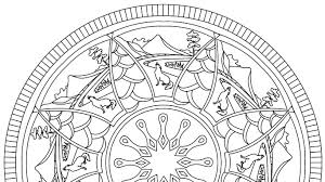 free mandala colouring pages adults crafts sea