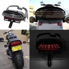 motorcycle license plate frame with led brake light tri bar license plate bracket led tail light for harley cvo dyna fat