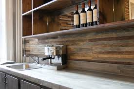wood kitchen backsplash back splash made from reclaimed wood the contrast created by