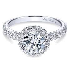 round halo rings images Gabriel co engagement rings white gold round halo diamond jpg