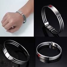 blood health bracelet images Blood thinner type 2 diabetes medical alert id bracelet for men jpg