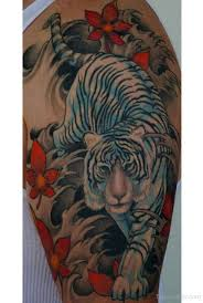 white tiger on half sleeve designs pictures