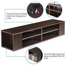 Tv Wall Mount With Shelf For Cable Box Tv Console Wall Mounted Floating Entertainment Center Wall Mount