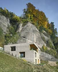 homes built into hillside concrete home has everything inside built from concrete