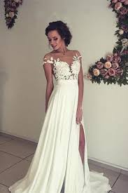 wedding dresses ivory see through lace appliqued wedding dress ivory bridal dress
