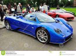 blue pagani a pagani zonda f editorial stock photo image 21041598