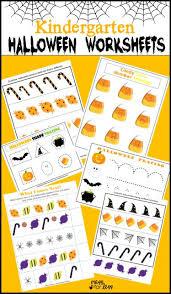 free kindergarten halloween worksheets mess for less