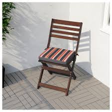 Ikea Recliner Chair äpplarö Chair Outdoor Foldable Brown Stained Ikea