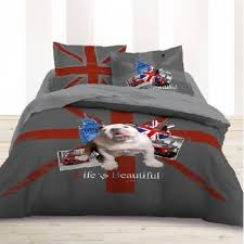 chambre ado londres housse de couette 200x200 parure de lit bulldog chambre ado