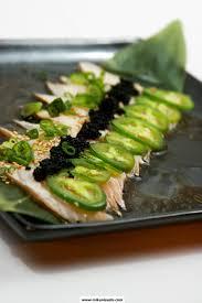 mikuni black and white albacore tuna toro lightly seared topped