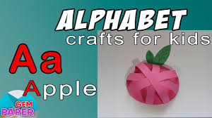simple craft for kids paper apple alphabet letter a youtube
