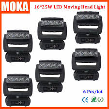 6pcs lot moka16 25w rgba 4in1 moving head light zoom beam wash
