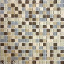 Brown Glass Tile Backsplash by 10sf Beige Carmel Marble Mix Blue Brown Glass Mosaic Tile Kitchen