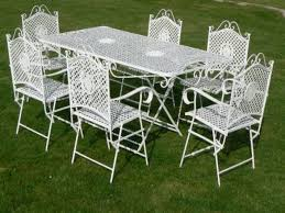 vintage homecrest patio furniture iron garden table and chairs