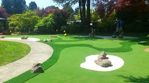 backyard golf course grass home outdoor decoration