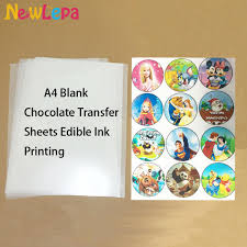 edible sheets chocolate transfer sheets a4 blank apply food prints onto