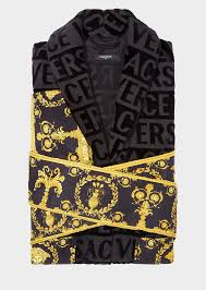versace i baroque bathrobe home collection us online store