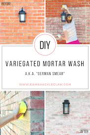 how to do a mortar wash or