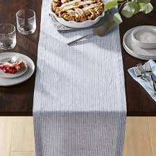 Navy Blue Lace Table Runner Table Runners Linen Cotton And Polyester Crate And Barrel