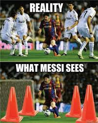 Funny Soccer Meme - 23 funny football soccer meme reality versus what messi sees pmslweb