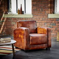 Side Table Decor Ideas by Decor Brown Leather Club Chair With Stripe Rug And Side Table For