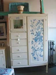 Shabby Chic Blue Paint by Sold 1890 1920 U0027s Chifferobe Wardrobe Cabinet New Paint Hand