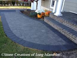 Long Island Patio by Cambridge Paving Stones Onyx Natural With Onyx Border Long