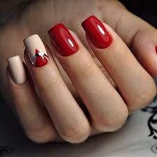 fierce elegant red nail designs