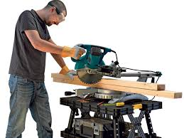 keter portable work table how to work safely with a miter saw easy five steps
