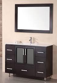 Sink Design by Design Element Stanton Single Vessel Sink Vanity Set With White