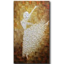 amazon com yasheng art hand painted contemporary art ballet