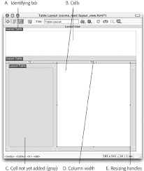 get layout from view layout view dreamweaver mx the missing manual book