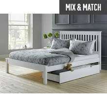 results for white metal bed frame