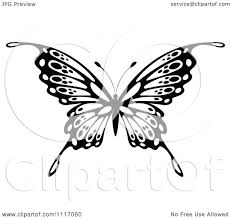 vector clipart black and white butterfly 5 royalty free graphic