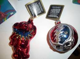 grateful dead lot of blown glass ornaments and dead days book