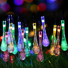 christmas tree solar lights outdoors these water droplet solar string lights that will make your backyard