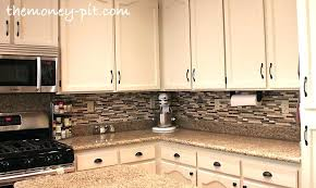 how to install a kitchen backsplash install kitchen backsplash glass tile ing around