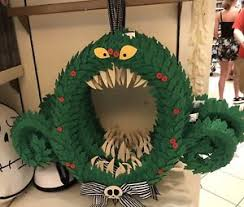 nightmare before christmas decorations disney parks nightmare before christmas haunted wreath hanging