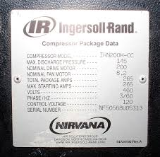 ir ingersoll rand irn200h cc contact cooled rotary air