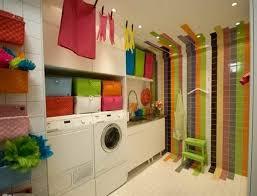 Colorful laundry room wall decor ideas