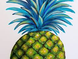 kitchen artwork modern pineapple acrylic painting canvas easy step by step beginner