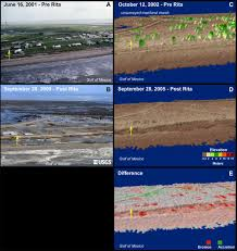 New Orleans Elevation Map by Hurricane Rita Coastal Change Hazards Hurricanes And Extreme Storms
