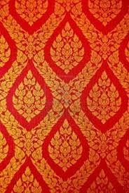 Indian Curtain Fabric Indian Green Floral Brocade Silk Fabric With Golden Thread