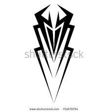 tribal vector design single sleeve stock vector 751670704