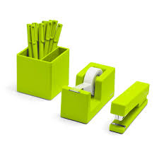 Green Desk Accessories Lime Green Starter Set Desk Accessories Poppin